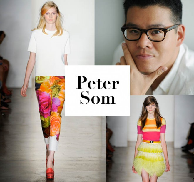 Peter Som and looks from his spring 2012 collection