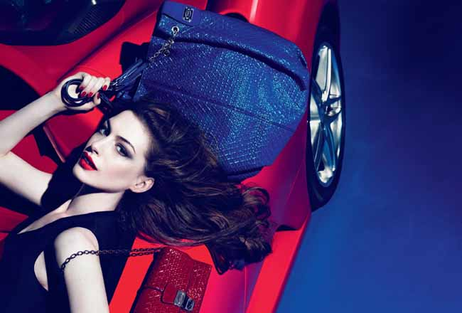 Anne Hathaway for Tod's Signature Collection