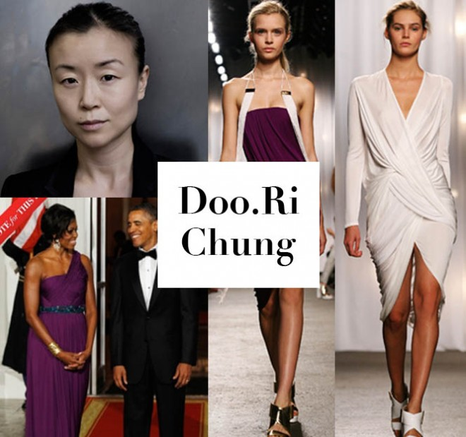 Doo.Ri and looks from her sprng 2012 collection; Michelle Obama wearing Doo.Ri (photo from Vogue.com)