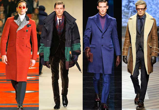 Fall 2012 looks from Prada, Burberry, Salvatore Ferragamo and Ermenegildo Zegna