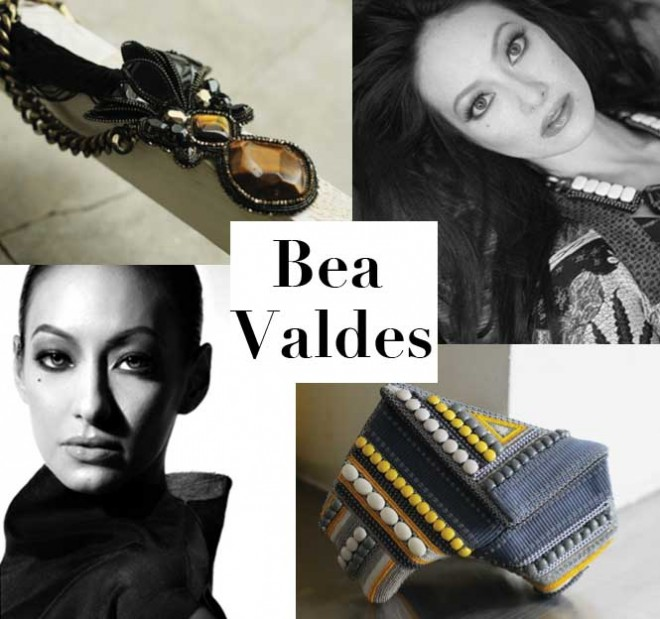 Bea Valdes and her bag and jewelry designs
