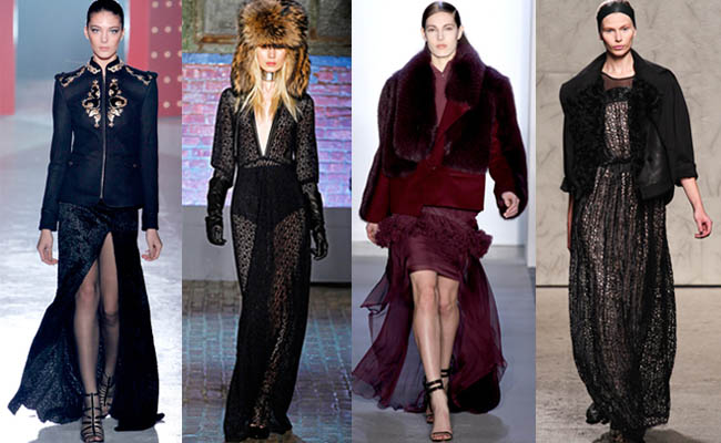 Left to right: Finale looks from Jason Wu, Yigal Azrouel, Peter Som, and Doo.Ri