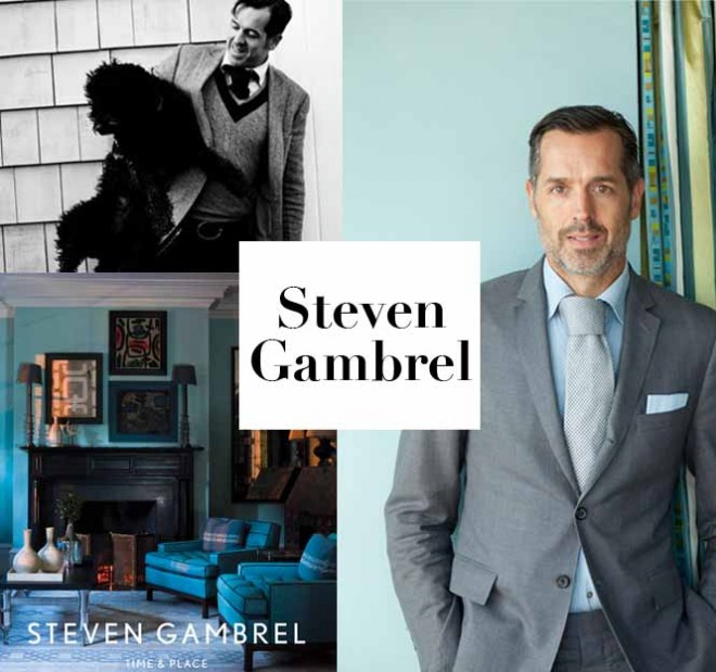 Architect, decorator now writer Steven Gambrel. Portrait on the right and photo of his book cover Steven Gambrel: Time & Place by Eric Piasecki