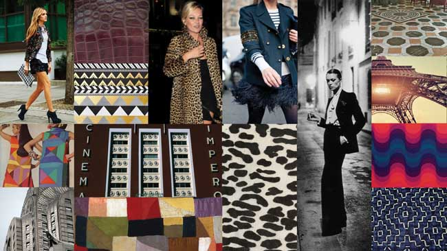 Rafe's inspiration board for his fall/winter 2012 collection. Photo courtesy of Rafe