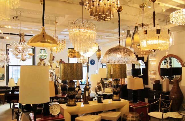 The light fantastic. Lights for sale at the 1stdibs store. Photo: Style Intel